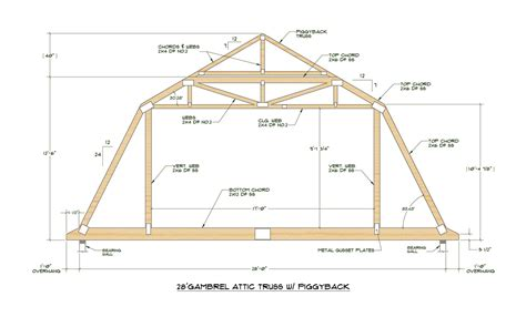 how to build a barn style roof gambrel attic truss design garage ideas pinterest