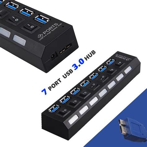 Switch Hub Wifi 5pcs usb 3 0 hub usb hub 5g mbps 7 port usb charger switch wireless hub adapter for