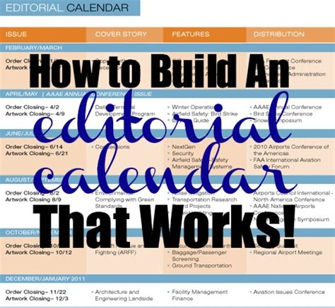 editorial calendar template for newsletter