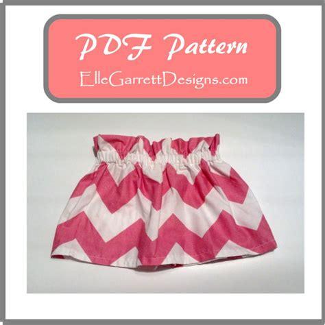 toddler paper bag shorts pattern paperbag skirt pdf pattern size 0 3 months girls 6