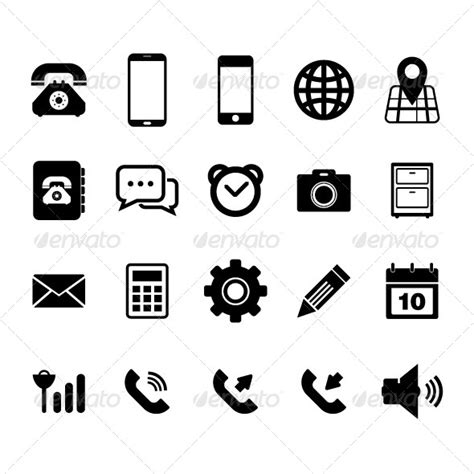 mobile phone icon font mobilephone icon graphicriver
