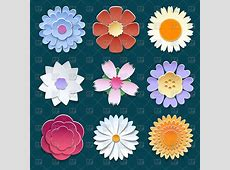 Paper origami flowers - set Vector Image of Signs, Symbols ... B-paper