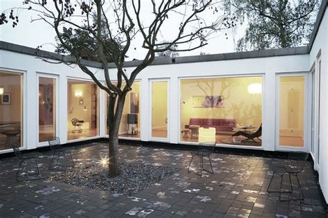 house with courtyard in middle interior courtyard plant love pinterest the
