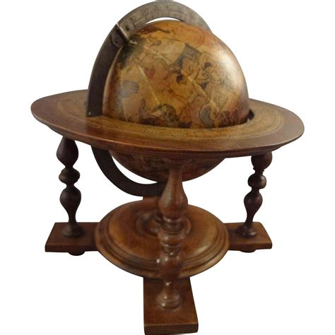 antique globe l antique miniature globe on stand with astrological signs