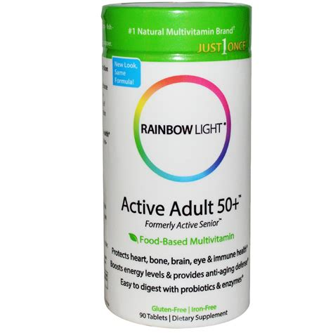 rainbow light women s multivitamin rainbow light just once active 50 food based