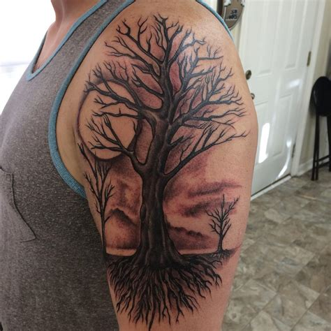 tree sleeve tattoo 24 half sleeve designs ideas design trends