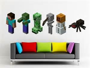 Minecraft Stickers For Walls Minecraft Torch Huge Peel And Stick Reuseable Wall Sticker