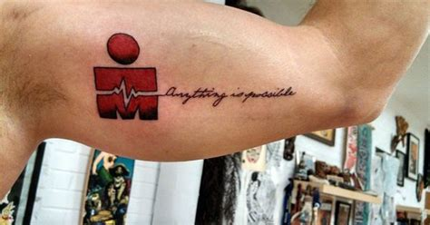 heart attack tattoos ekg ironman completing ironman tremblant