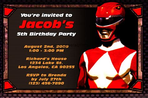 printable birthday invitations power rangers first birthday party invitations boy drevio invitations