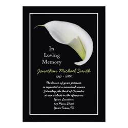 free memorial templates memorial service invitation announcement template 5 quot x 7