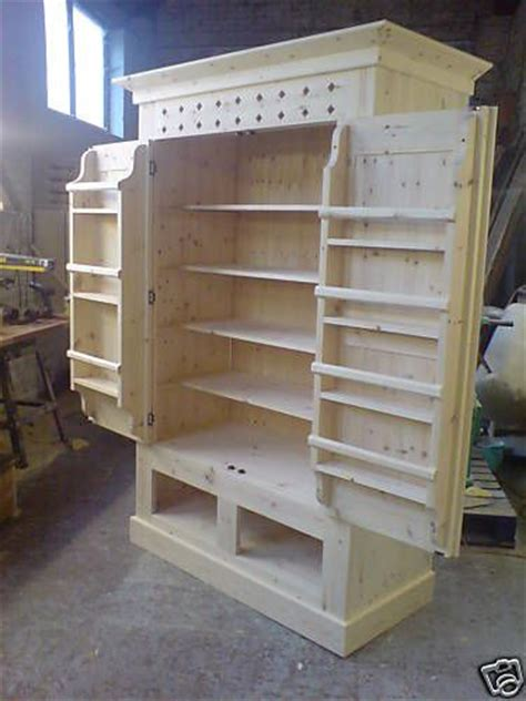 details about handmade solid pine kitchen larder cupboard