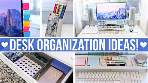 desk office organization ideas