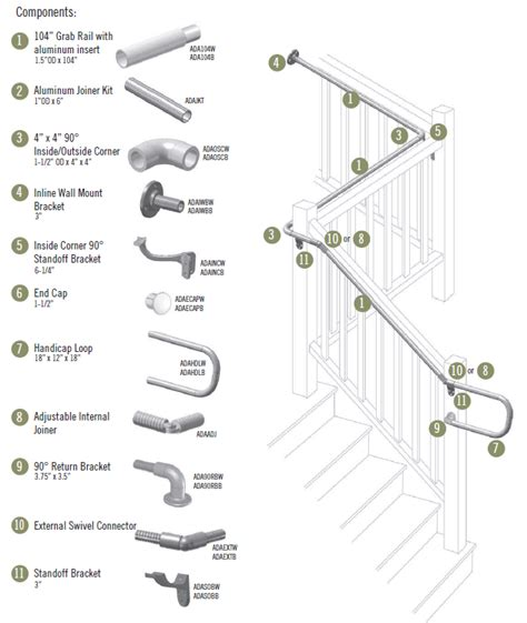 banister parts image gallery handrail parts
