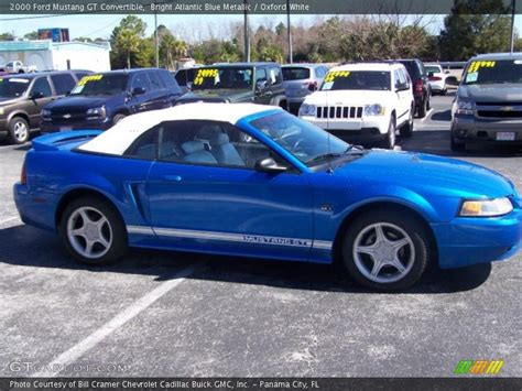 2000 blue mustang 2000 ford mustang gt convertible in bright atlantic blue