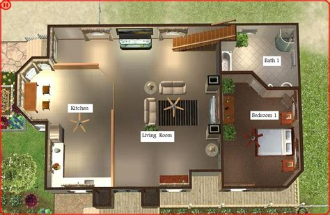 2 Floor House by Floor Plant Sims 3 Beach House Blueprints All About House