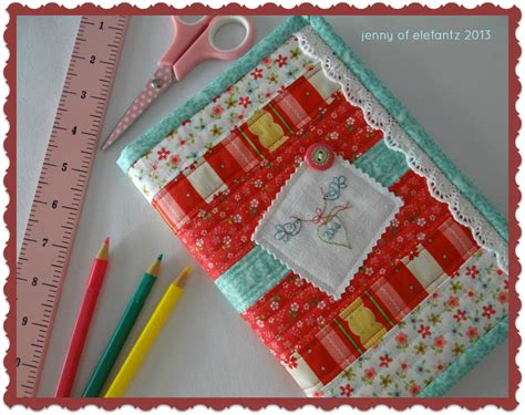 pattern for fabric journal cover jenny of elefantz tutorial bound diary journal cover