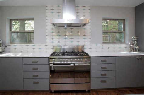 vintage kitchen tile backsplash mid century modern in white rock modern kitchen