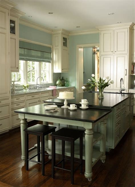 Green kitchen milk glass and counter tops on pinterest