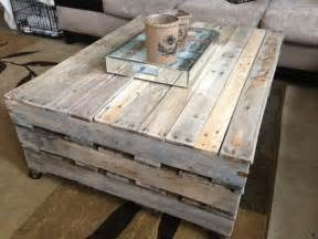 Here s another reclaimed pallet diy coffee table project but with a