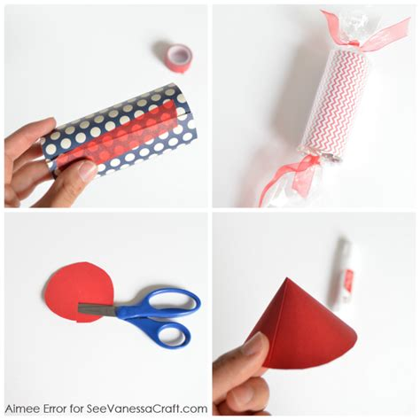 How To Make A Paper Firecracker - craft tutorial 4th of july firecracker favors