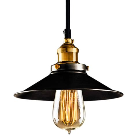 Industrial Metal Pendant Light In Black Industrial Ls Industrial Metal Pendant Lights