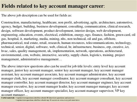 top 10 key account manager questions and answers