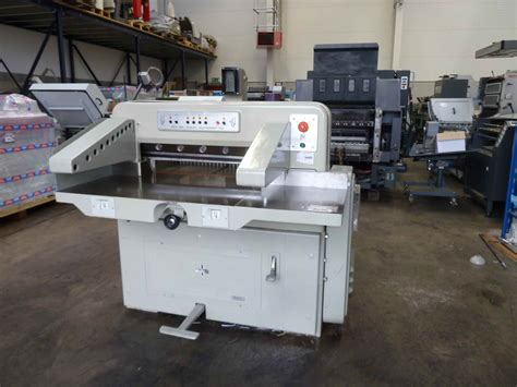 guillotines used finishing machines used polar 72 paper cutter