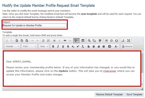 How Do I Request Member Updates District Clubrunner Support Center Access Request Email Template