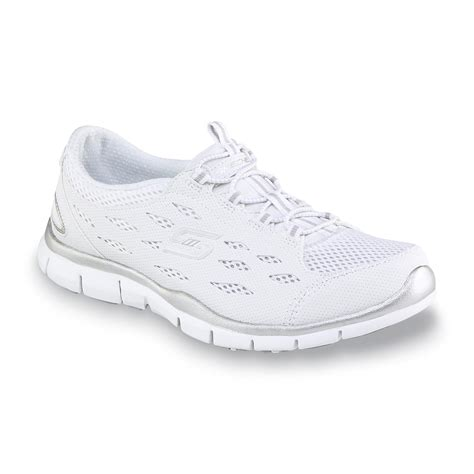 skechers s gratis going places athletic shoe white