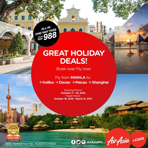 airasia holidays airasia holiday deals for as low as php 988 pisofare co