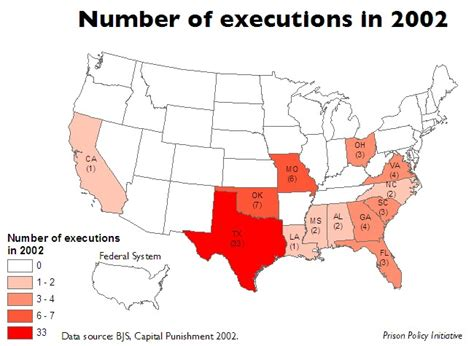 executions in the u s in 2003 death penalty information number of executions per state 2002 prison policy