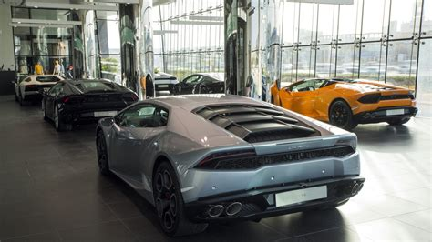 lamborghini showroom lamborghini opens epic showroom in dubai in the