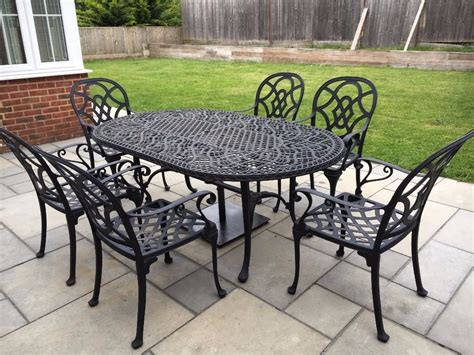 cast aluminum patio table and chairs heritage cast aluminium outdoor table and chairs set