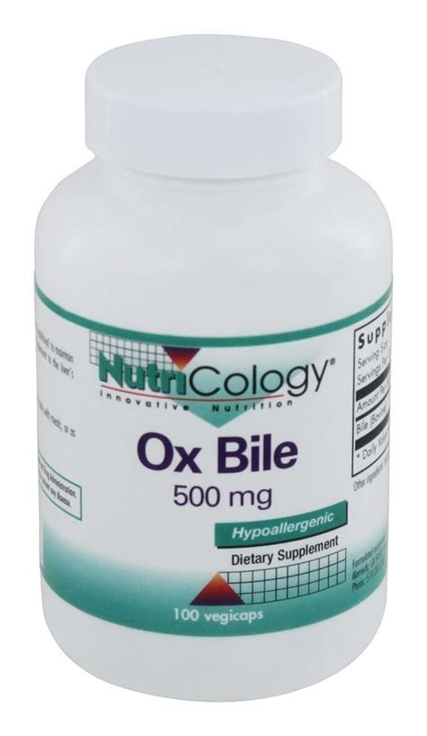 Ox Bile Detox by Buy Nutricology Ox Bile 100 Vegetarian Capsules At