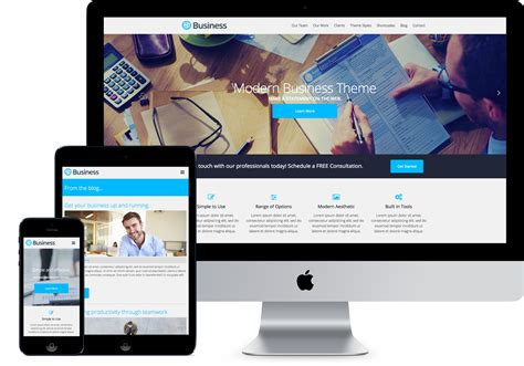 wordpress theme free company website business modern themes