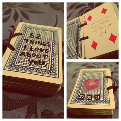 Deck Of Cards Gift For Girlfriend - 26 best images about things i love about you on pinterest card deck valentine gifts