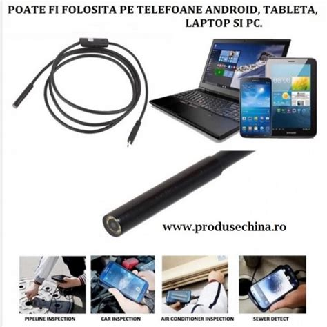 camara video android camera endoscopica android foto video waterproof 5m