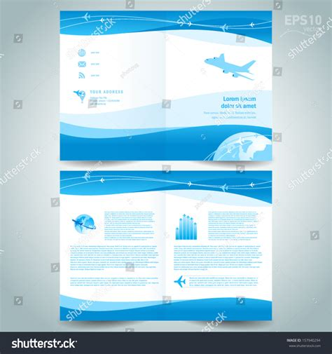 booklet brochure template booklet design template catalog brochure folder stock