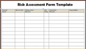 Risk Assessment Report Template 10 Excel Risk Assessment Template Incident Report Template
