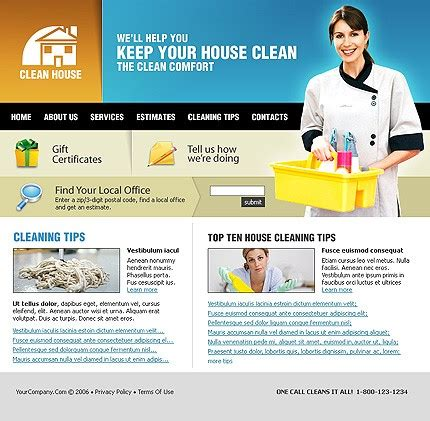 Cleaning Website Template 10146 Housekeeping Website Templates Free