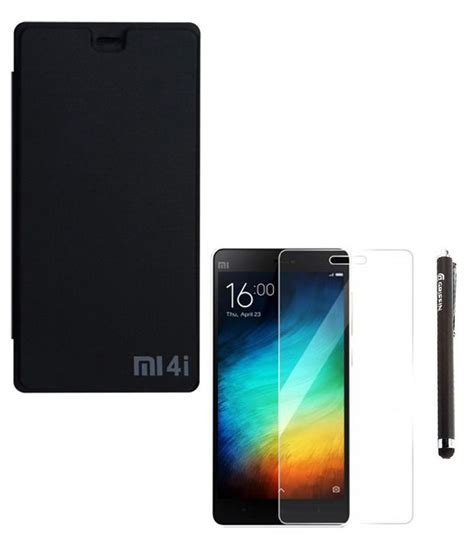 flip cover for xiaomi mi4i dompet ygs flip cover for xiaomi mi4i black with screen guard
