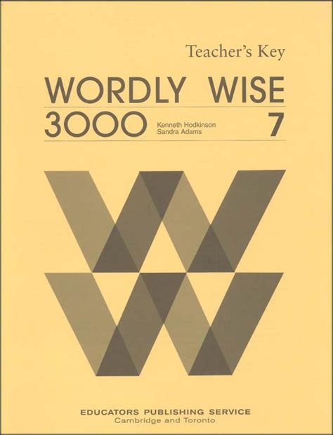 Wordly Wise 3000 Book 7 Answer Key 000586 Details