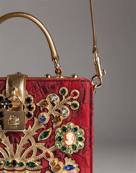 Dg Dolce And Gabbana Floral Canvas Satchel by Dolce Gabbana Filigree Tree Brocade Dolce Box Bag Lyst