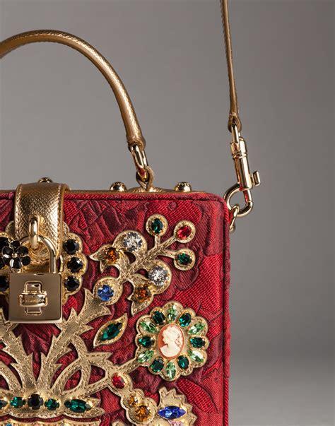 Dg Dolce And Gabbana Suzanne Satchel by Lyst Dolce Gabbana Filigree Tree Brocade Dolce Box Bag