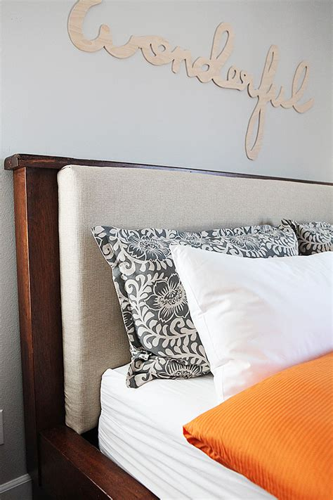 pillow headboard diy upholstered headboard insert and pillows