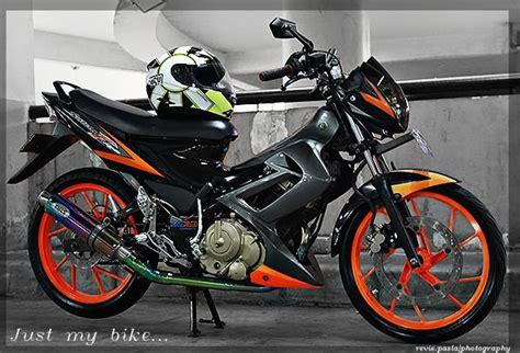Sticker Motor New Satria Fu 150 Hoonigan 06 Spec A Striping Motor motorcycle review s suzuki satria f 150 2008 black orange