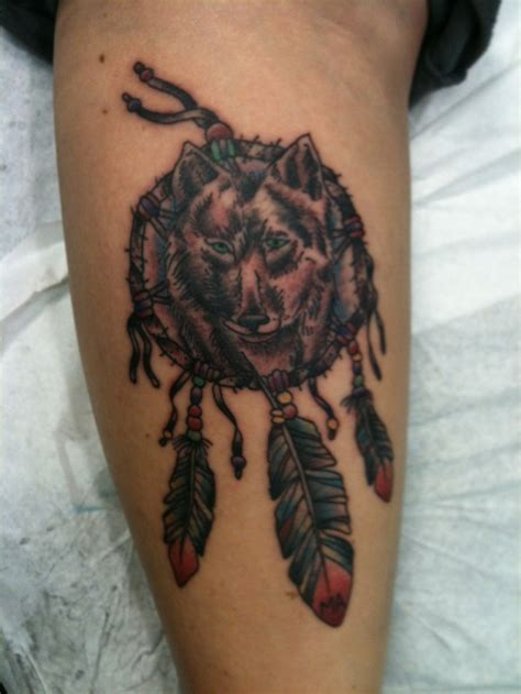 wolf dreamcatcher tattoos 17 best ideas about wolf dreamcatcher on