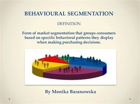 pattern advertising definition marketing theory behavioural segmentation