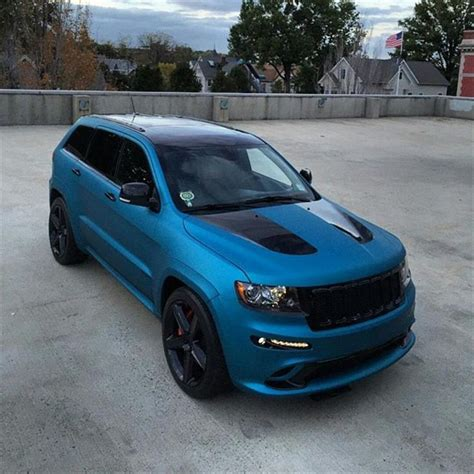 tiffany blue jeep grand cherokee lagoon blue matte metallic srt by illmatic wraps in north
