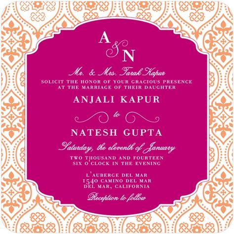 indian wedding invites wedding invitation wording etiquette indian wedding